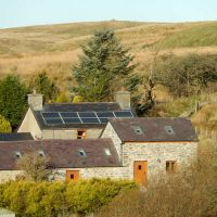 The farm - on the edge of moorland, with walks