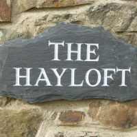 The Hayloft - slate signage