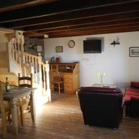 Lounge/ dining area in The Hayloft , with desk