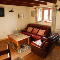 The living area in The Hayloft